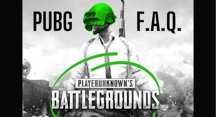 Frequently Asked Questions PUBG